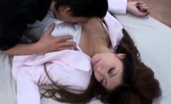 Natsuki Haga deeply nailed in hairy cooter