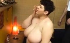 big busty foot ball like boobs mature lady changing dress