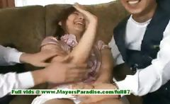 Nao Ayukawa innocent cute asian girl enjoys her friends