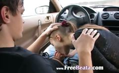 extreme blowjob in my car