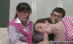Stepmom Alexandra Silk catches them