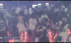 My french girl dancing in the club
