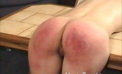 Intense spanking for Mandy