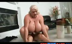 Young guy with big dick fuck cougar with huge boobs and cum