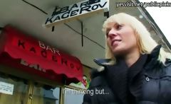 Pretty Czech girl paid for hardcore sex