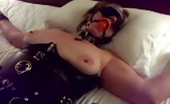 my bound wife Silvia in total submission
