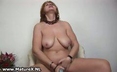 Old horny is sticking big violet