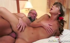 skinny girl fucking nasty old man