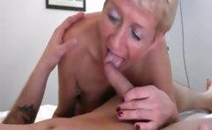 Nasty blonde mature whore goes crazy
