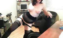 Amazing hot and sexy dark haired slut