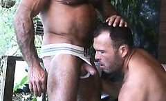 Two sexy gay dudes have great time
