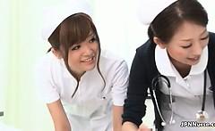 Sexy asian nurses go crazy jerking