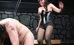 Bizarre milf dominatrix babes extreme cock and balls