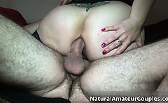 Homemade video of a thick girl getting