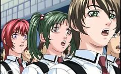 Hentai coed masturbation in front of class