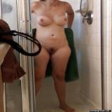 Showering amateurs unaware of the hidden camera