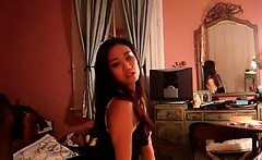 Horny asian girlfriend in sexy lingerie