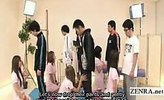 Subtitled CFNM Japanese nurses bizarre examination