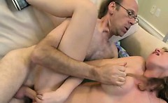 Big Titty Blonde Teen Taking Facial From Dirty Old Man