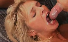 attractive mature blonde slut is so happy while this