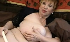 large mature woman with big tits and with big dildo