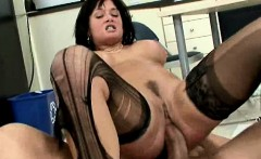 Brunette office babe Tory Lane fucking