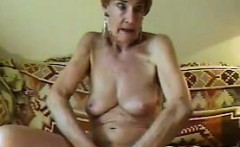 Russian Granny Fingering Her Old Pussy