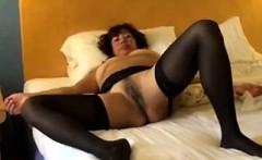 Mature Slut Wearing Black Stockings