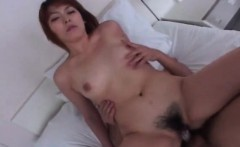 Asian brunette fucking in a regular classic way