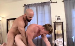 Muscled Adam fucks Brent ass after body rub and blowjob