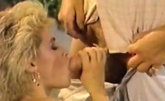 Dana Lynn, Nina Hartley, Ray Victory in vintage porn clip