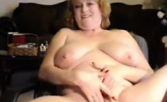 Fat Old Woman Plays With Her Pussy