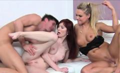Female agent has threesome casting