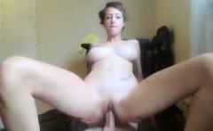 Buxom young nympho gets drilled by her nerdy lover in every