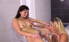 Fingering and fisting for pissing lesbians Loreen and Britt