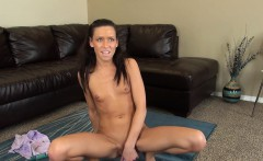 Skinny Kacey Jordan finds herself alone and takes care of her desires