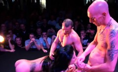 Live sex show with Spanish babes doing it live on stage