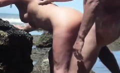 Lustful mature lady getting fucked doggy style by her husba