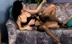 Dark-haired mature lady loves getting penetrated while in her sexy corset