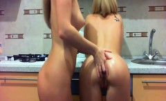 Sexy Woman Fingering Her Sexy Blonde Friend Within The Home