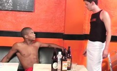 Muscled and hung black and white Brazilians engage in gay interracial oral and anal sex