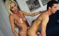 Trans Bella - Hot blonde Italian tranny enjoys hardcore sex