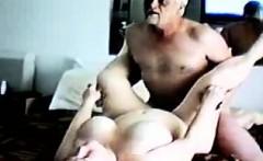 Older Man Beating Partner On Bed