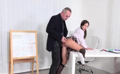 Pretty schoolgirl is seduced and plowed by her older teacher
