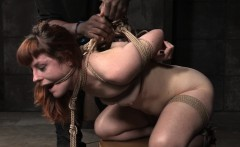 Heeled tattooed slut tightly roped and punished