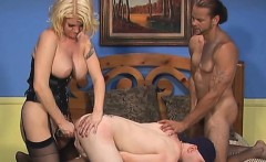 Sex appeal hottie is spending time with two bisexual fellows