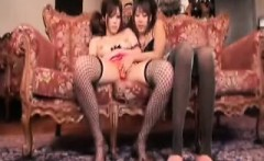 Wild lesbians fuck each other's hungry cunts with a double-