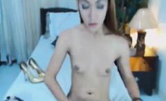 Gorgeous Shemale Babe Masturbating on Cam