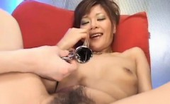 Hot MILF Tomomi gets her nipples pinched and her pussy playe