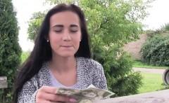 Busty Czech babe fucks in corn field for money